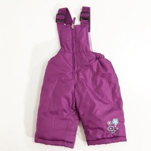 Bon Bebe Purple Bib Overall Snowsuit